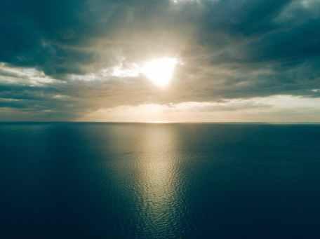 aerial beach beauty calm waters